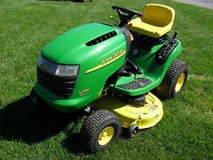 "John Deere JD L100 Riding Mower Tractor 17 HP Briggs Engine 42"" Deck"