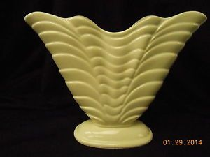 "Antique Art Deco Roseville Pottery RRP Ohio 10"" Fan Vase"