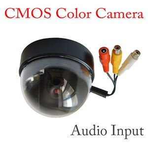 New CCTV Color CMOS Security Dome Home Camera Wired System Audio Video