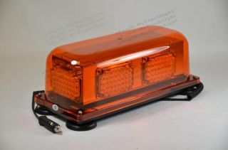 LED 12VDC Magnetic Safety Construction Security Flash Truck Strobe Light Beacon