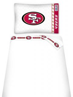 NFL San Francisco 49ers Bed Accessories Twin Sheet Set Football Sheets Decor