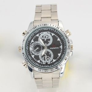 8GB Watch Camera High Definition Steel Belt Silver Cam Camcorder Video Recorder
