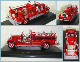 Yatming Fire Truck Series 1 43 1935 Mack Type 75BX Fire Engine 43001