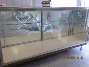 Glass Display Cabinet Case Showcase 6 ft Long Glass Shelf Retail Store