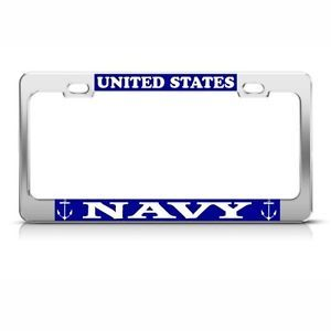 US Navy United States Metal License Plate Frame