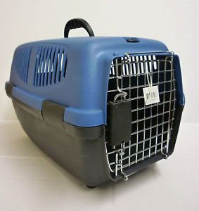 Dog Puppy Cat Pet Travel Carrier Crate Kennel Carrying Tote Heavy Duty Plastic