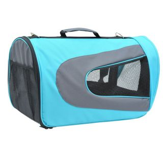 New Soft Pet Dog Cat Airline Travel Crate Carrier Tote Shoulder Bag Blue
