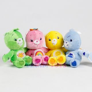 "Care Bears Plush Doll Set of 4 Oopsy Cheer Funshine Grumpy 5 5"" Stuffed Toy"