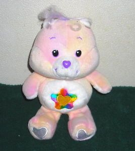 "Care Bears True Heart Tye Dye Bear 8"" Plush Bean Bag Toy"
