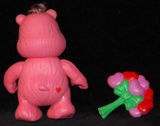 "Complete Care Bear 3"" Love A Lot Poseable Figure Vintage Kenner 1983 Accessory"