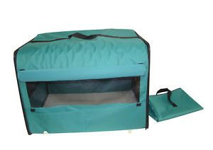 Dog Cat Pet Bed House Soft Carrier Crate Cage w Case MT