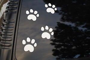 Set of 4 Paw Foot Prints Dog Cat Animal Vinyl Sticker Decal Car Pet Supplies V19