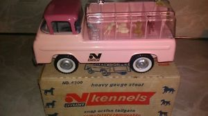 Nylint Kennels 6200 Dog Carrier Pressed Steel Toy Truck Vintage 1960s Boxed