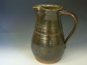 Hand Thrown Stoneware Pottery Pitcher P C