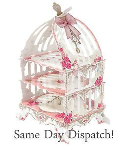 Wedding Party Tableware 3 Tier Birdcage Cake Stand Cupcakes Shabby Chic New