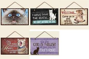 Decorative Wood Plaque Sign Cat Designs Your Choice Cat's House Catnip So Cute