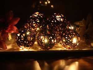 Willow Ball Warm White LED String Lights Christmas Lights Party Lights