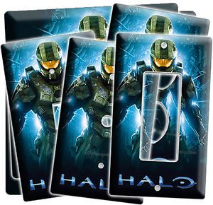 Halo Master Chief Light Switch Power Outlet Wall Plate Cover Gamer Room Decor NW