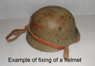 WWII Leather German Helmet Carriers WWII 1940 Original