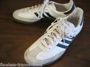 Adidas Samba Originals Men White Black Trainers Leather Shoes US Size Mens 12