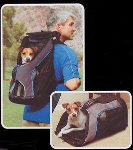 Pet Carrier Dog Cat Backpack Small Dog Puppy Safe Travel Tote Crate Cage E4636