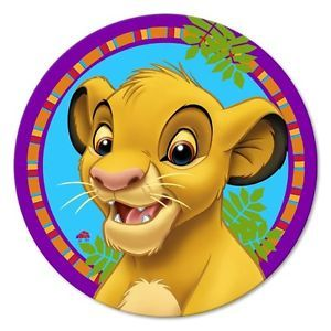 Disney Lion King Dessert Plates 7in Birthday Party Supplies Decoration Tableware