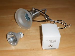 Hampton Bay Satin Nickel Track Lighting Replacement Lights Lot of 4