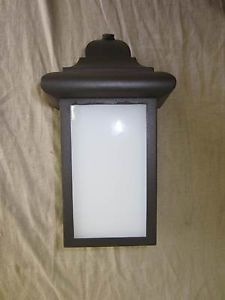 Sea Gull Single Light Outdoor Wall Mount Bronze Lantern 8998PBLE 10