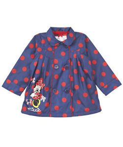 BNWT Mothercare Girls Disney Minnie Mouse Rain Mac Coat Jacket 12 18 Months