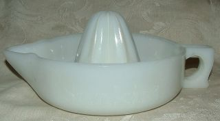 Milkglass Sunkist Reamer Depression Era McKee Glass