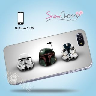 iPhone 5 5S Case Cover Movie Collection Star Wars Stormtrooper Helmets M5024