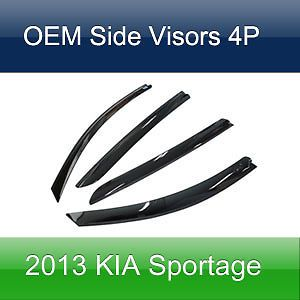 Vent Window Shades Side Visors Rain Guards Smoke for 2013 Kia Sportage