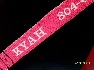 Nylon Dog Collars Embroidered w Name Phone Included