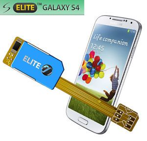 Dual Sim Card Adapter for Samsung Galaxy S4 Elite No Cutting 3G UMTS UK