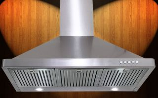 "36"" Stainless Steel Kitchen Wall Mount Range Hood w LED Lights Touch Button"