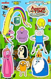 Sheet Set of 10 Adventure Time with Finn Jake Fridge Magnets Cartoon Network