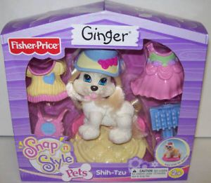 Fisher Price Snap 'N Style Shih Tzu Puppy Dog Ginger