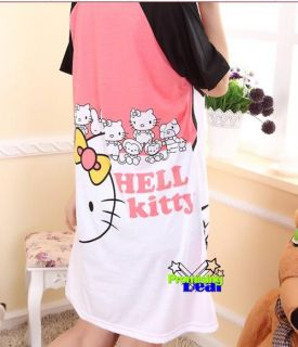 Hello Kitty Women Girl Cute Skirt Night Suit Cotton Pink