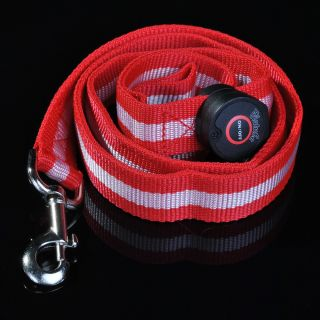 Red LED Flashing Light Dog Pet Rope Belt Harness Safety Glow Leash Lead