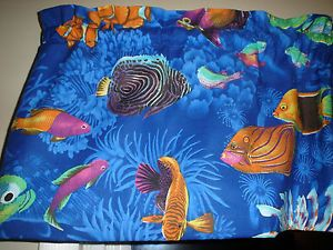 Bright Tropical Fish Ocean Sea Bathroom Kitchen Window Valance