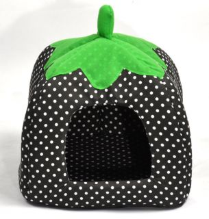 3 Size Soft Strawberry Pet Dog Cat Bed House Kennel Doggy Warm Cushion Basket