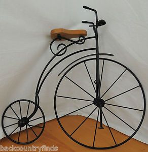"Lasting Products Vintage Style 20"" Wrought Iron Bike Bicycle Art Wall Decor"