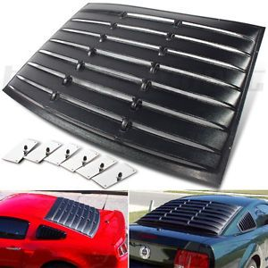 2005 2012 Ford Mustang Cobra Rear Tail Window Louver Cover Shield Screen Shade