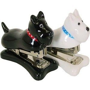 Black Scottish Terrier Scottie Dog Mini Stapler