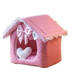 Princess Cute Pink Pet Dog Cat Sofa Bed House Large