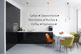 Coffee Kitchen Vinyl Wall Quote Decal Sticker Art Decor Wall Decoration