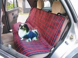 "55""x39 5"" New Full Bench Pet Dog Car Seat Cover Plaid"