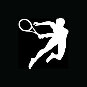 Tennis Player Sticker Vinyl Car Window Laptop Decal Wall Decor Cute Sport Gift