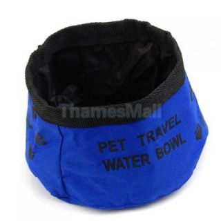Pet Dog Cat Foldable Travel Water Bowl Food Feeder Dish