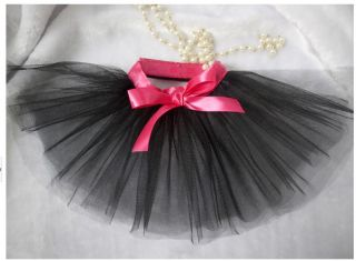 Free SHIP 2013 New Dog Pet Clothing Dog Clothes Dot Dog Dress Skirts Black Sz M